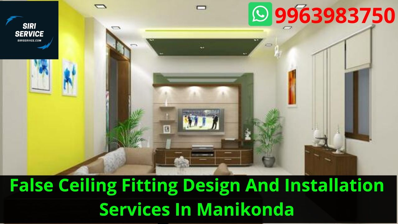 False Ceiling Fitting Design And Installation Services In Manikonda